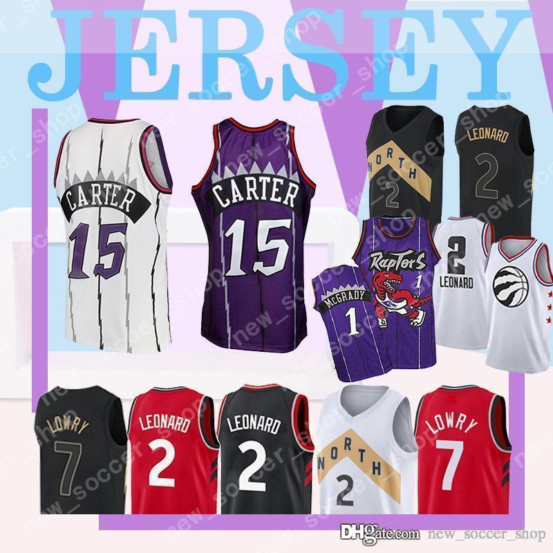 the latest 40232 80c2a Toronto 2018 Mens ALL Raptors Jersey Star Vince 15 Carter Retro Mesh Jersey  Kawhi 2 Leonard Kyle 7 Lowry Basketball Jerseys Top sale