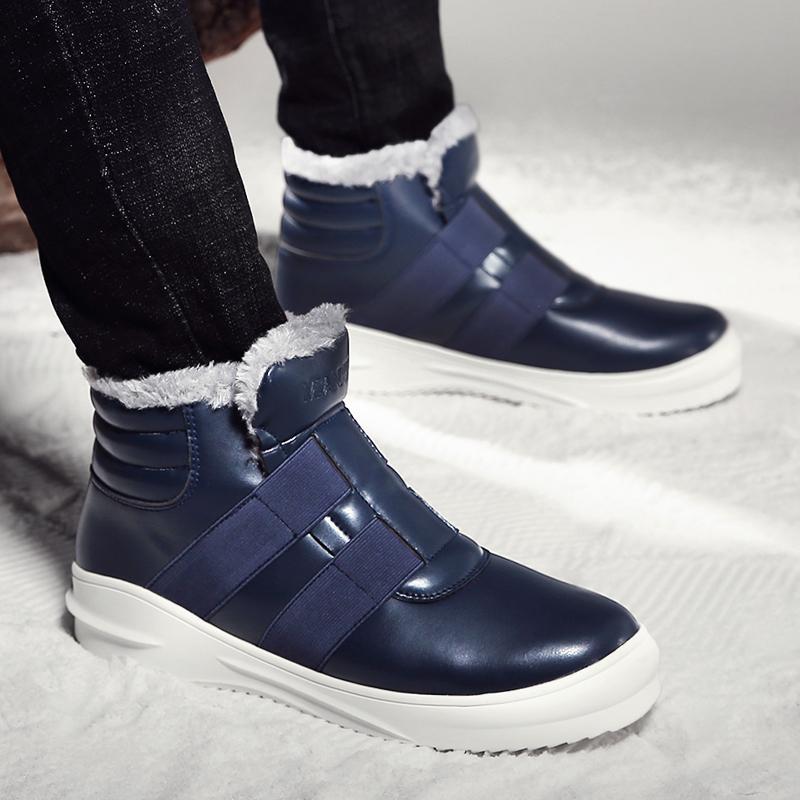 87f639f9 Compre Tallas Grandes 11 Botas Para La Nieve De Invierno Para Hombre  Zapatos De Felpa Cálidos Zapatos De Hombre Botines Impermeables Calzado Sin  Cordones ...