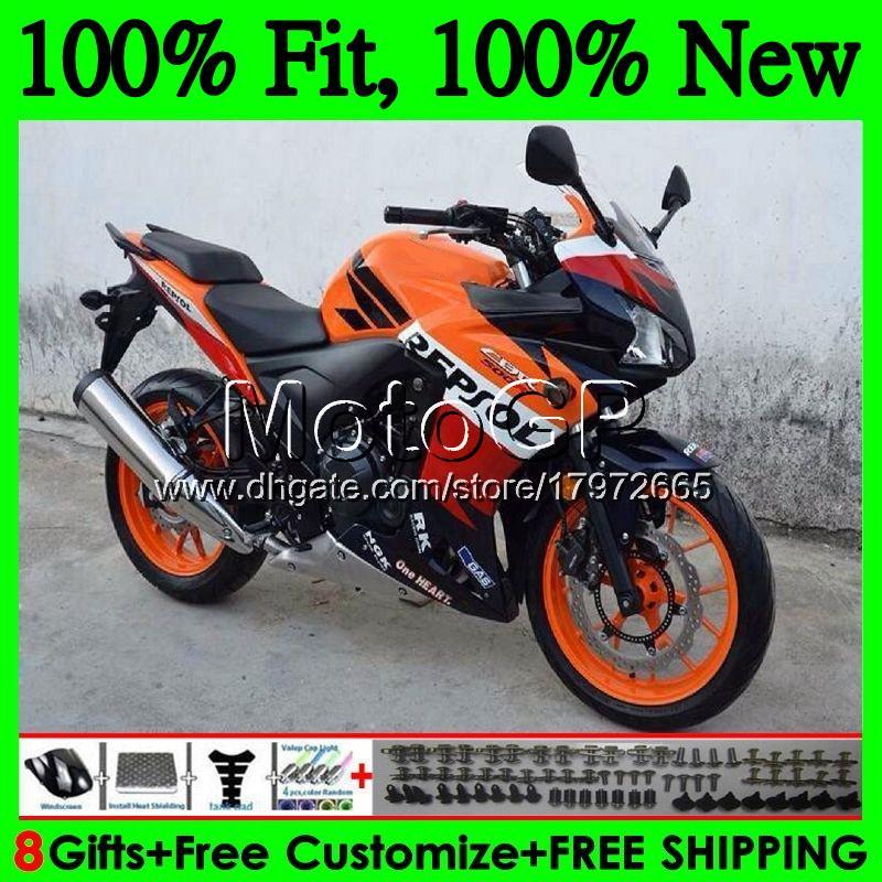 Einspritzung für HONDA CBR500 RR CBR500R 11 12 13 14 15 74GP CBR 500R 500RR CBR500RR 2011 2012 2013 2014 Verkleidungskarosserie