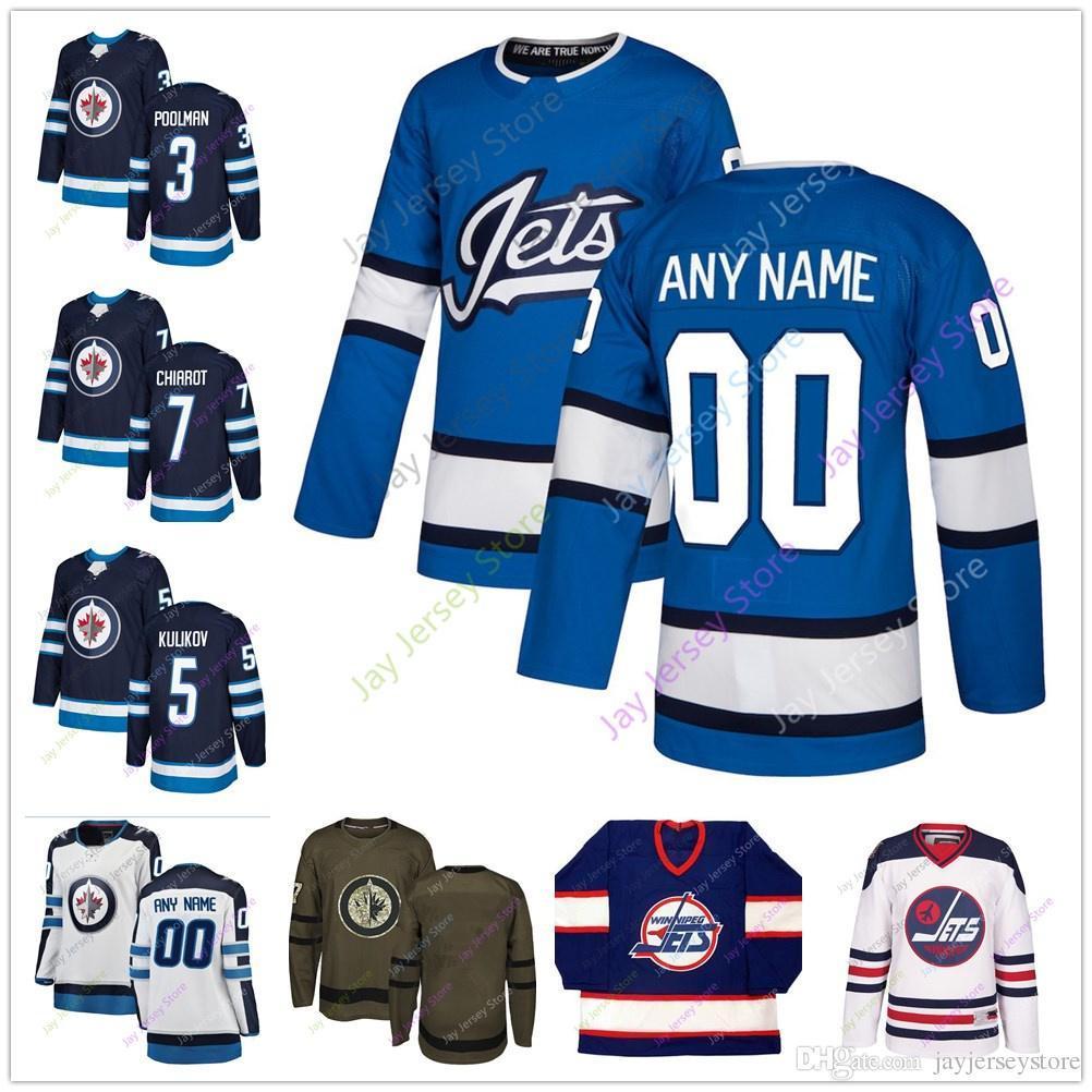 big sale 095c3 2e644 2018 2019 Winter Classic Winnipeg Jets Jersey Branded Blue Salute to  Service 3 Tucker Poolman 5 Dmitry Kulikov Ben Men Women Youth Cheap
