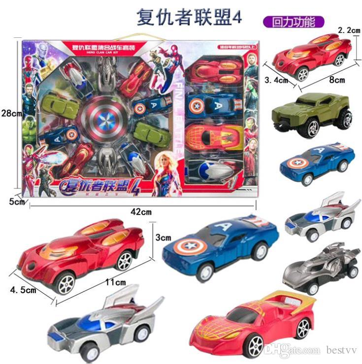 Children Toy Car Wholesale Avengers 3 Cars Box Set Simulation Cartoon Small Car