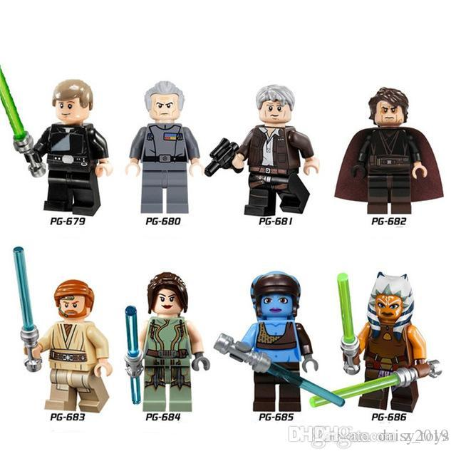 PG8034 Space Wars Luke Skywalker Anakin Jedi Knight Aayla Secura Han Solo  Collection Toys for children