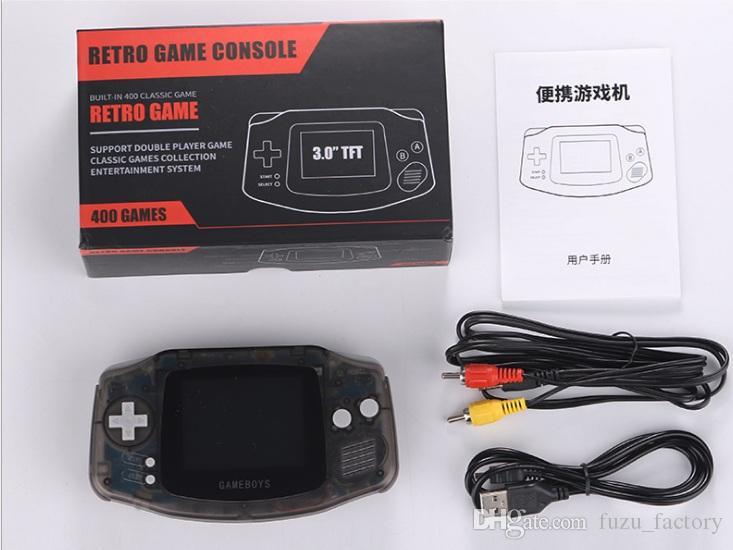 Coolbaby RS-5 Jeu Portable Retro Mini Console portable peut stocker 400 jeux 8 bits 3,0 pouces couleur LCD Game Player