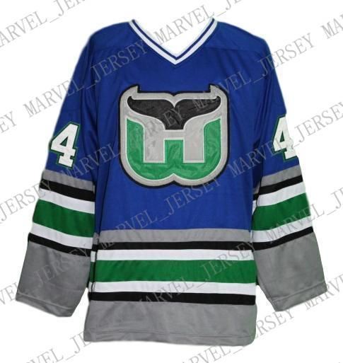ce7da5ace8c 2019 Custom Whalers Retro Hockey Jersey New Blue Pronger ...