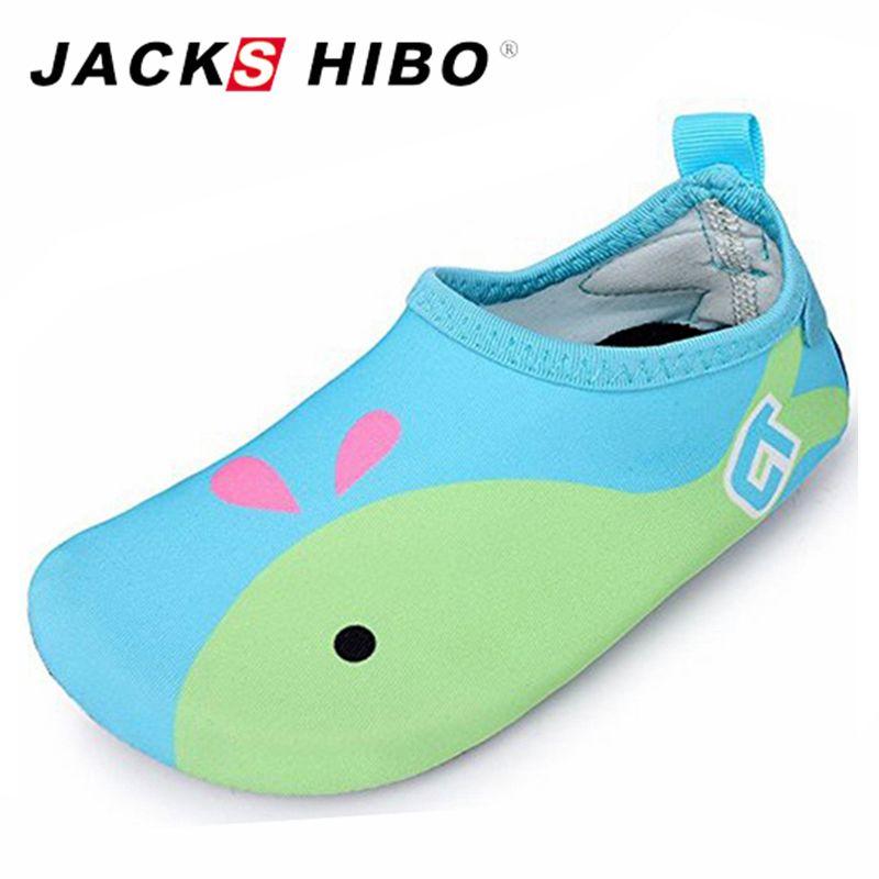 a8b297187f Compre JACKSHIBO Cute Kids Sea Water Shoes Antideslizante Barefoot Shoes  Niños Nadando Para Zapatillas De Deporte Aqua Sandalias Al Aire Libre A   47.49 Del ...