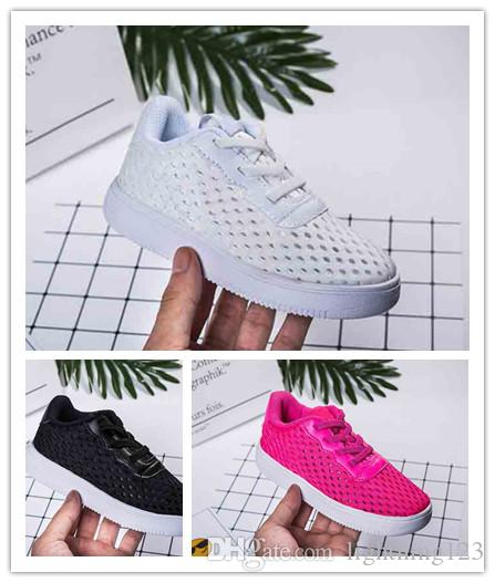 official photos 7a474 804fd Acquista Kiids 2019 New Low Cut One 1 Casual Shoes Bianco Nero Dunk Sports  Skateboarding Scarpe Classic AF Fly Trainers Sneakers Alte In Maglia A   30.69 Dal ...