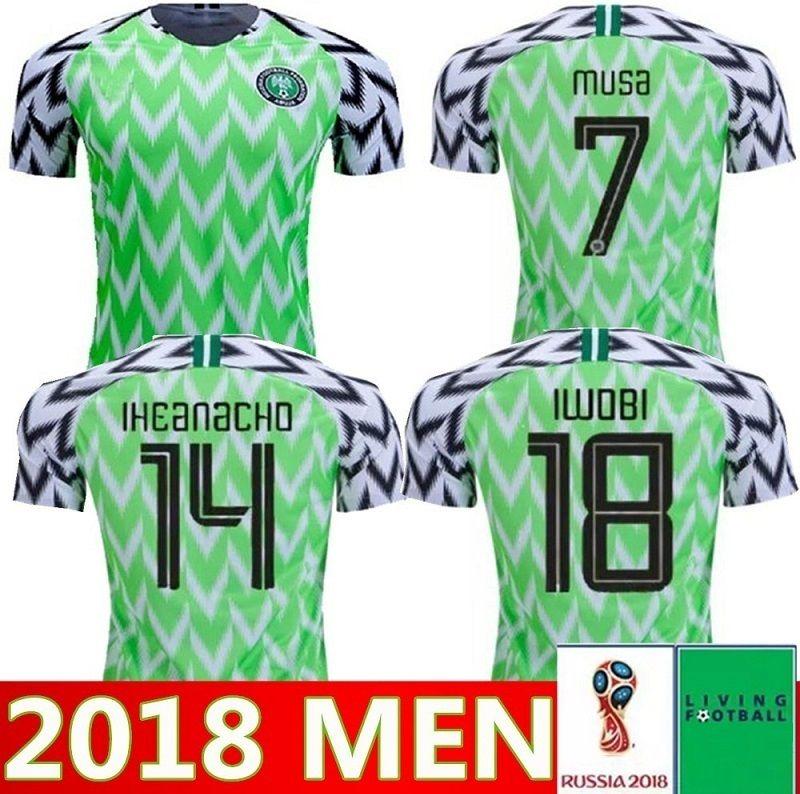 0b5a953baea 2018 World Cup Nigerian Soccer Jerseys 9 STARBOY 10 MIKEL NDIDI ...