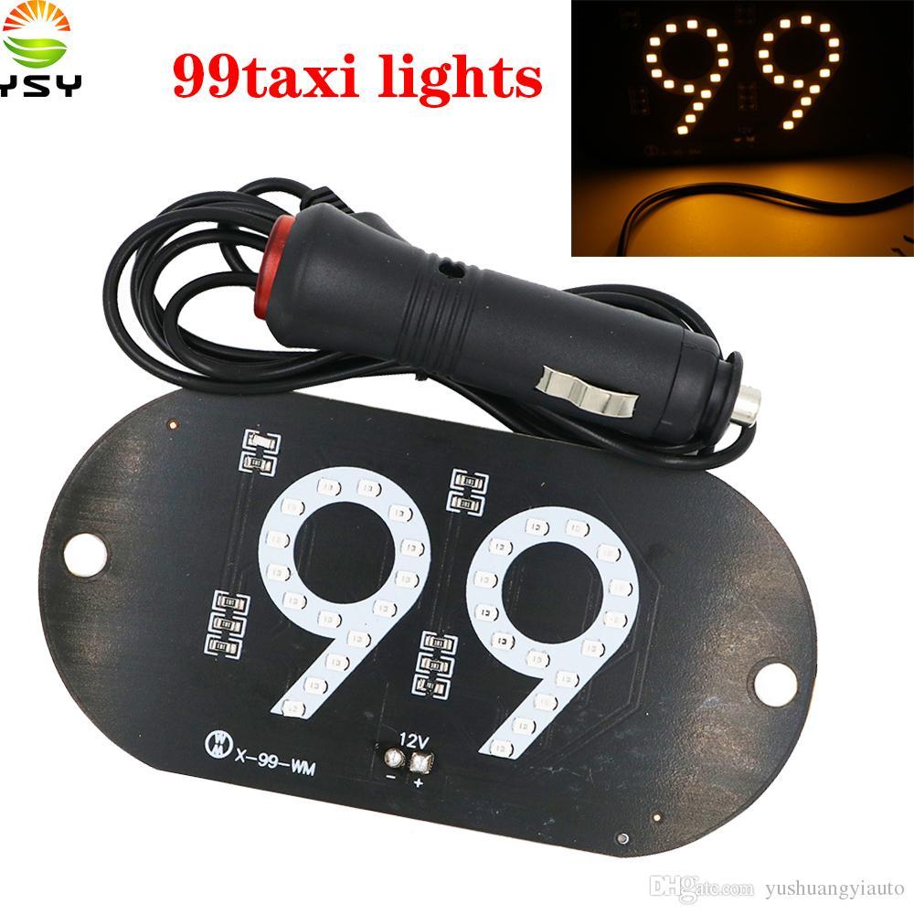 YSY 20pcs NEW 99pop Taxi Uber Lyft Led Car Windscreen Cab indicator Lamp  Sign Yellow LED Windshield Taxi Light Lamp Yellow DC12V