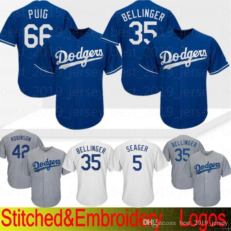 the latest 3400b 56ec5 Los Angeles 66 Yasiel Puig Dodgers Baseball Jersey 22 Clayton Kershaw 5  Corey Seager 23 Gonzalez Taylor 35 Cody Bellinger 10 Justin Turner 3