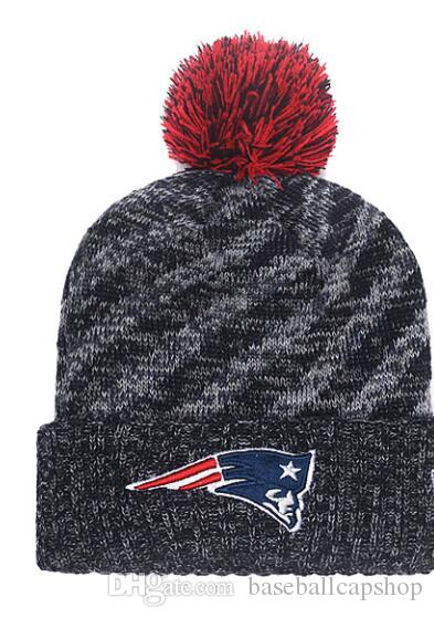 5b77ddc7 Free Shipping One Piece Cheap Football Beanies Team Logo Embroidered New  England Patriots Cuffed Knit Hat Sport Skull Men Women Winter Caps