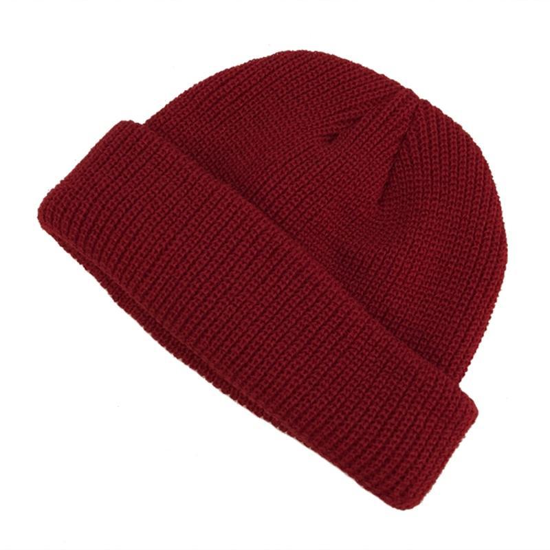 купить оптом 2019 новый вязаная шапка сплошной цвет осень зима шляпа