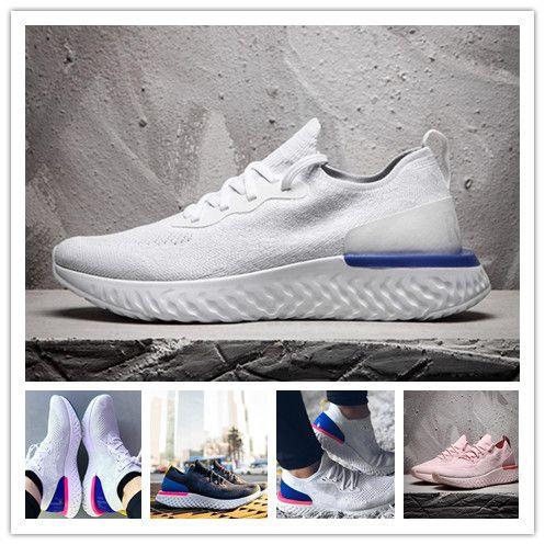 wholesale dealer 80375 dddc5 Sale Flash Epic React Zoom Lunar Shoes for Men Women Personality Comfort  fly knit mesh Breathable Sail Light Bone casual shoes 36-45