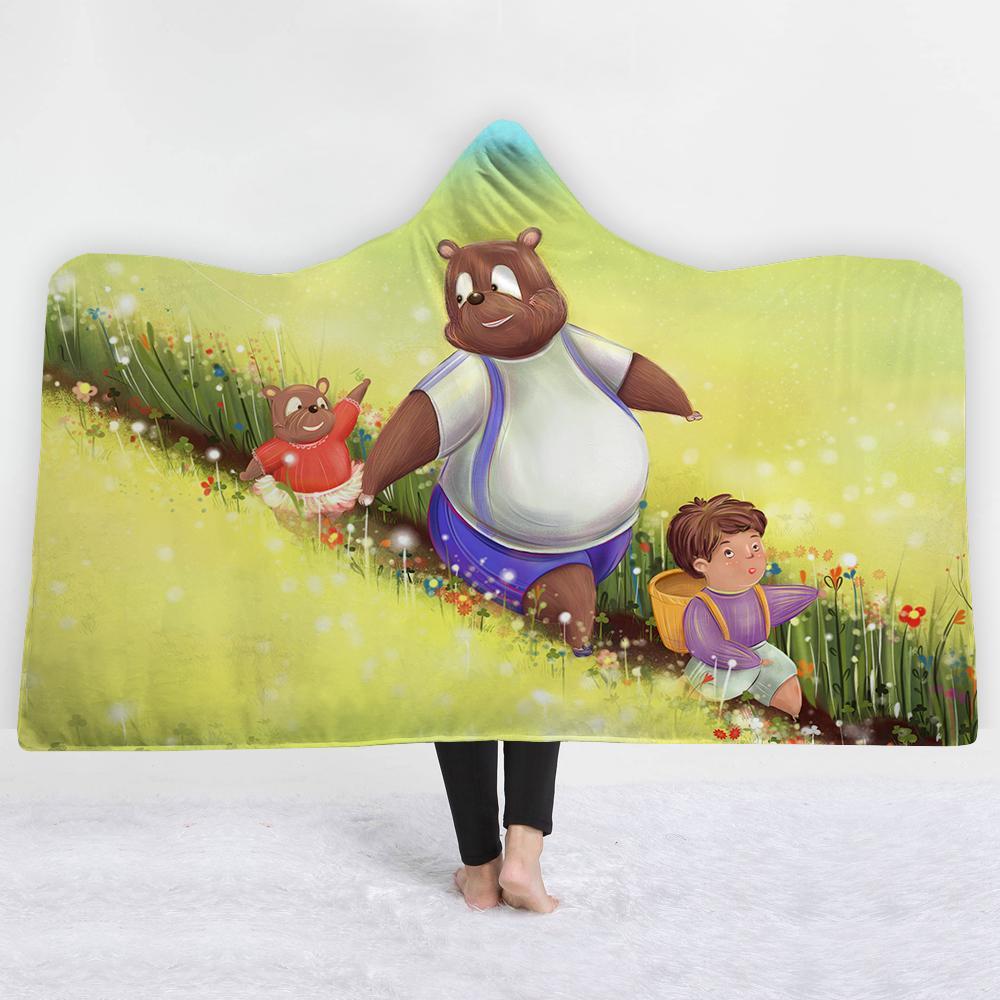 Acquista bear famiglia adorabile cartone animato coperta tenere