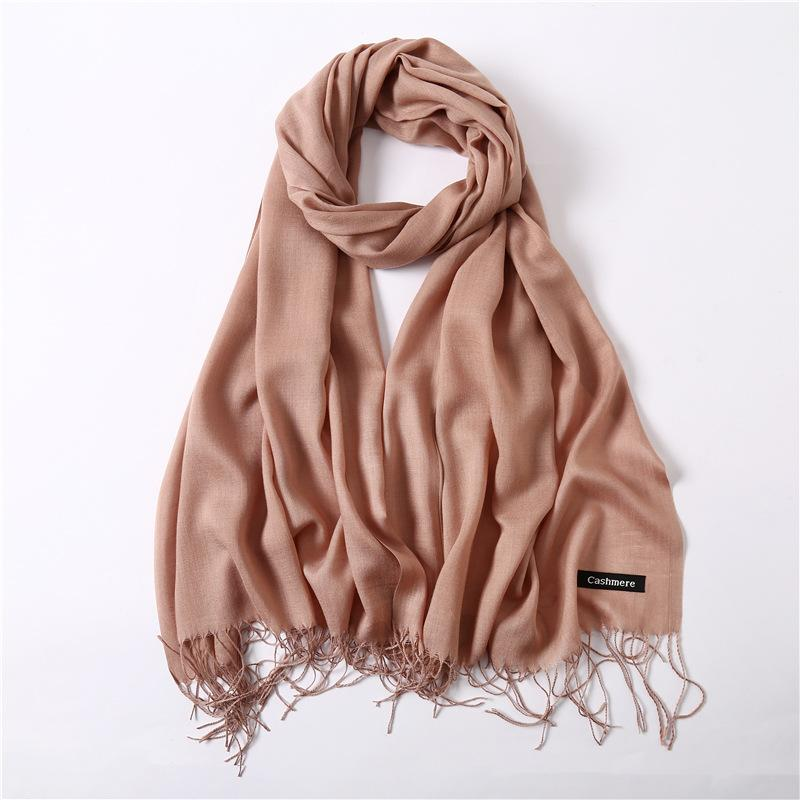 2019 Women Scarf Fashion Summer Thin Solid Shawls And Wraps Lady