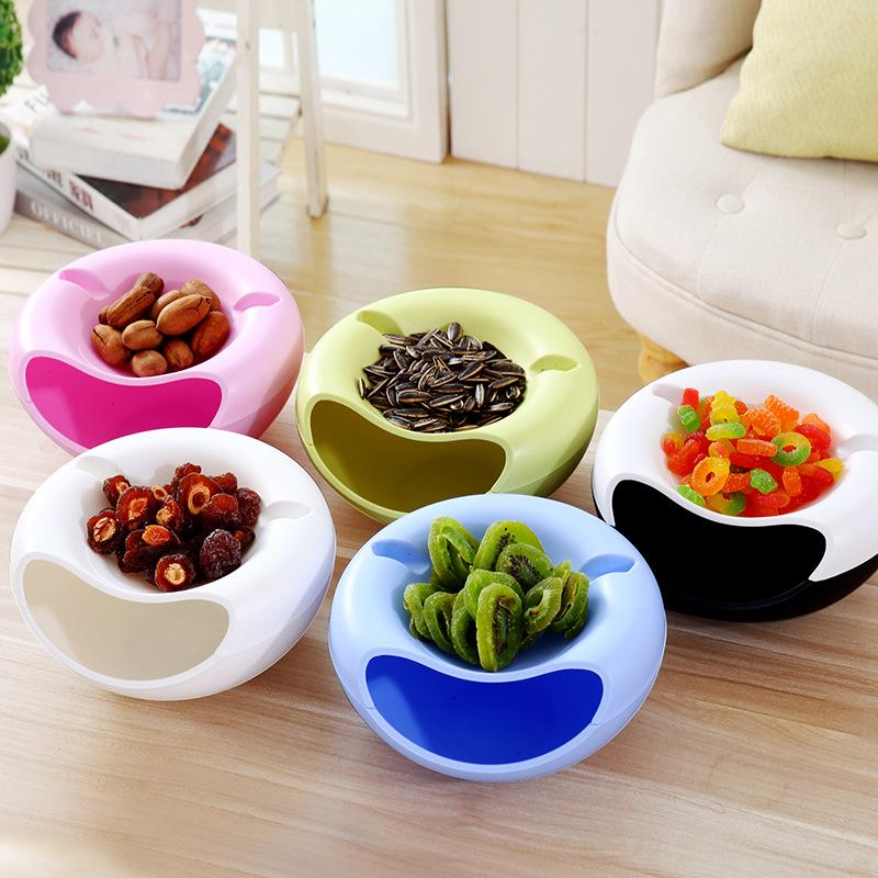 heap Storage Boxes & Bins Hoomall Plastic Melon Seeds Storage Box With Mobile Phone Holder Candy Snack Dry Fruit Organizer Container ...