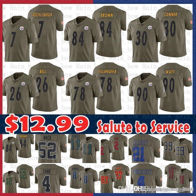d545ab71036 2019 Sale 84 Antonio Brown Jersey Steelers 26 Le'Veon Bell 78 ...