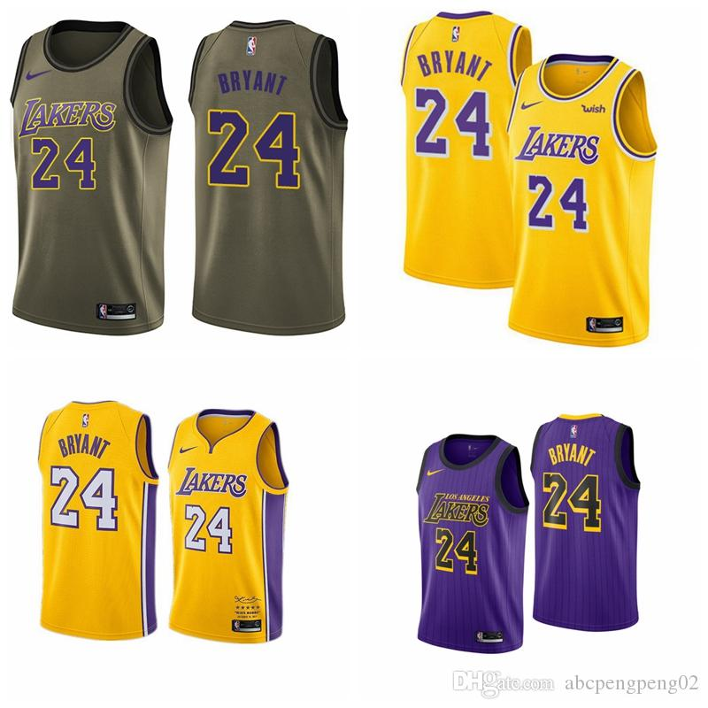 eef4c1a3f0ac 2019 Los Angeles Newest Kobes Jersey 100% Stitched Lakerss 24 Bryants  Embroidered Logo Black White Pink Shorts Mens Jersey UK 2019 From  Abcpengpeng01