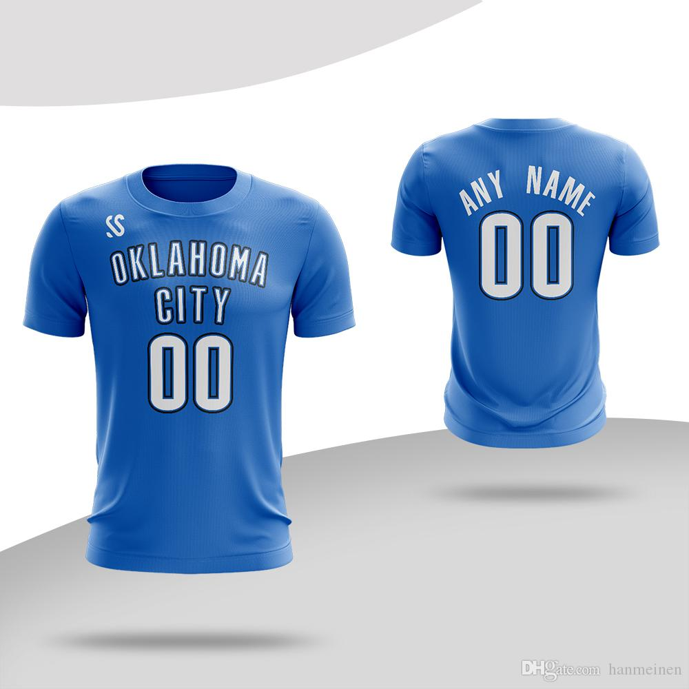 outlet store acc64 28de4 Custom Men s Basketball T-shirts Quick drying Breathable Paul George  t-shirt any name and number color blue