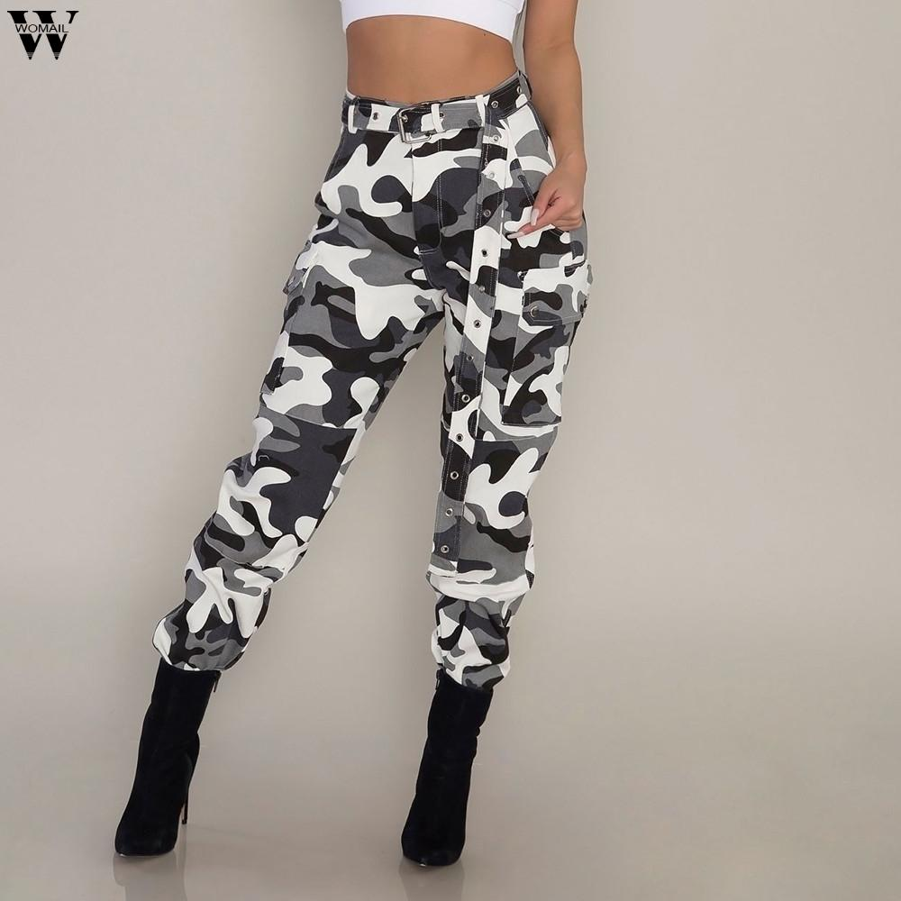 1bf5c35bc0aae 2019 Casual Womens Camo Cargo Trousers Pants Army Combat Jeans Without Belt  Jan22 From Yukime, $36.95 | DHgate.Com