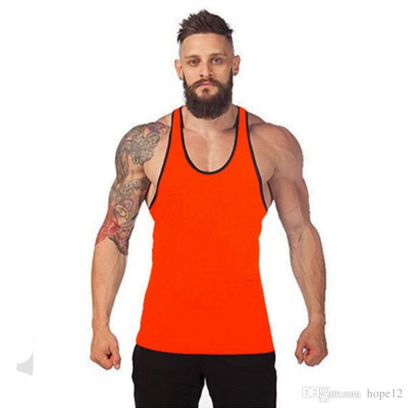 Vente chaude Bodybuilding Marque Débardeur Hommes Stringer Débardeur Fitness Singulet Chemise Sans Manches Séance D'entraînement Homme Sous-shirt Vêtements