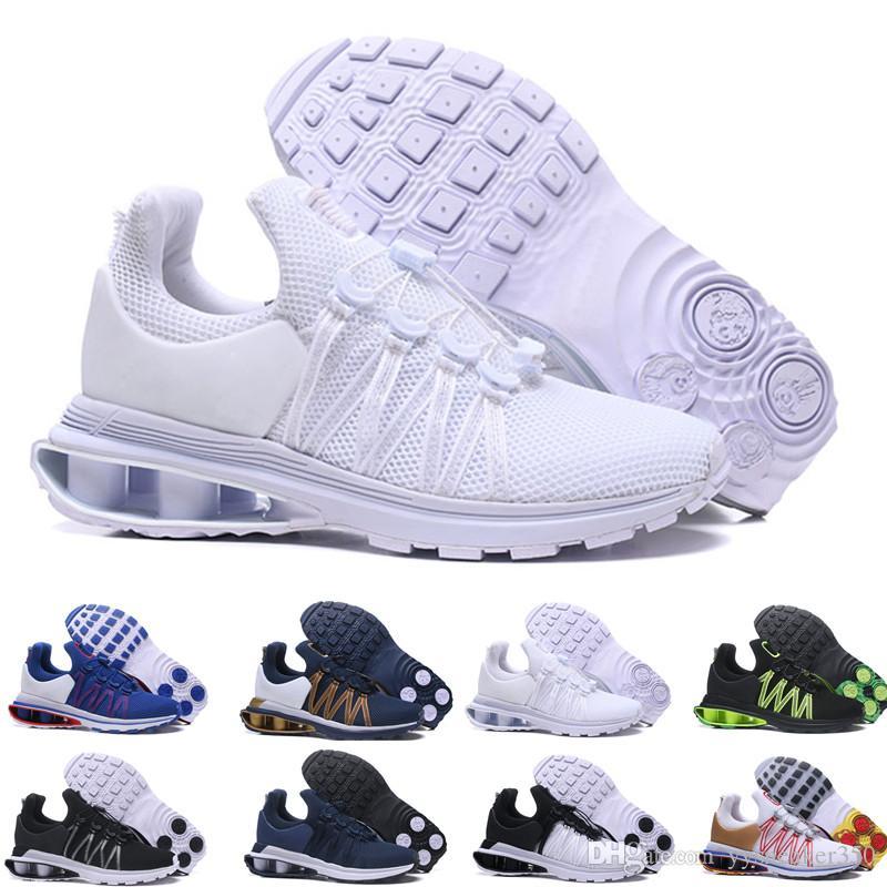 coupe classique 528ab f3e95 2019 Gold Colors Shox Gravity 908 Mens Designer Shoes 2019 Chaussures Homme  Shox Trainers Newest Mens Nz Basketball Shoes Sizes 40-46