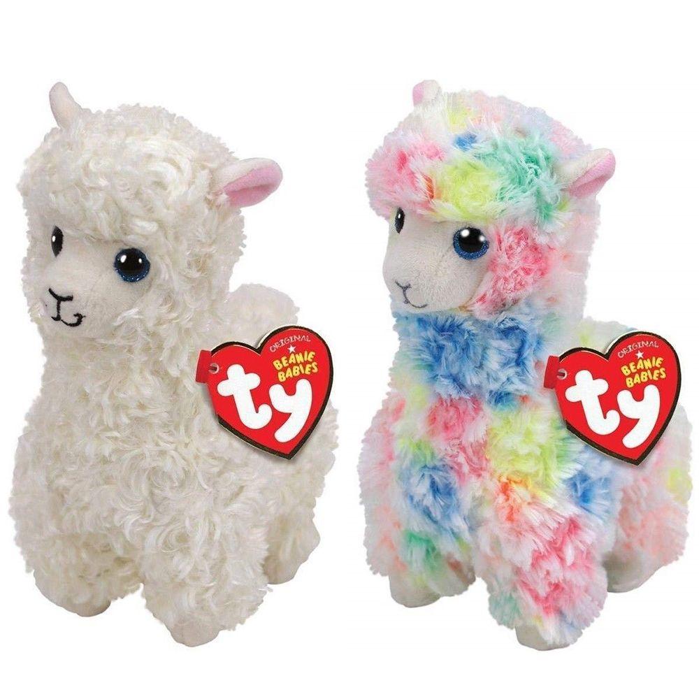 2019 Pyoopeo Ty Beanie Babies 6 15cm Llamas Lily Lola Plush