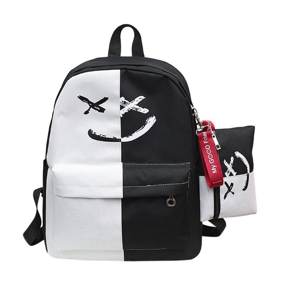 b6b0b152b31656 Women Bags Girls Smile Shoulder Bags Student School Bag Casual Bookbags  Female Travel Backpack Small Bag Mochila Rolling Backpacks Backpacks For Men  From ...