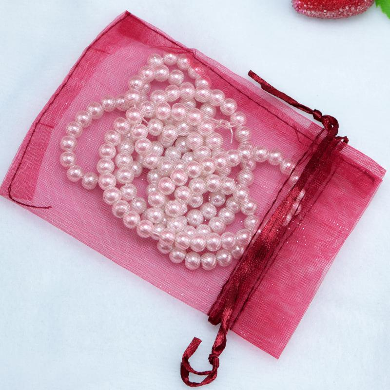 Wholesale New 500pcs Organza Wedding Party Favor Gift Candy Jewellery Bags Pouches Deep Red 17x23cm