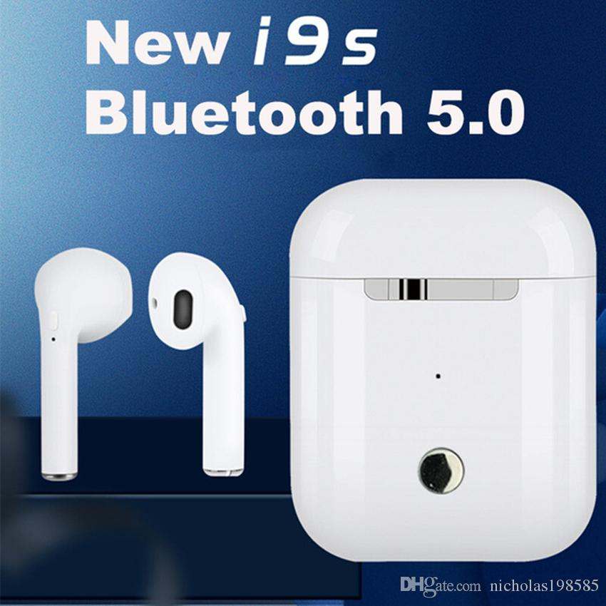 Mini I9S TWS V5 0 Double Ears Call Wireless Bluetooth 5 0 Earphones Headset  Small Size Stereo Earbuds For Android iPhone 6 7 8 Plus Android