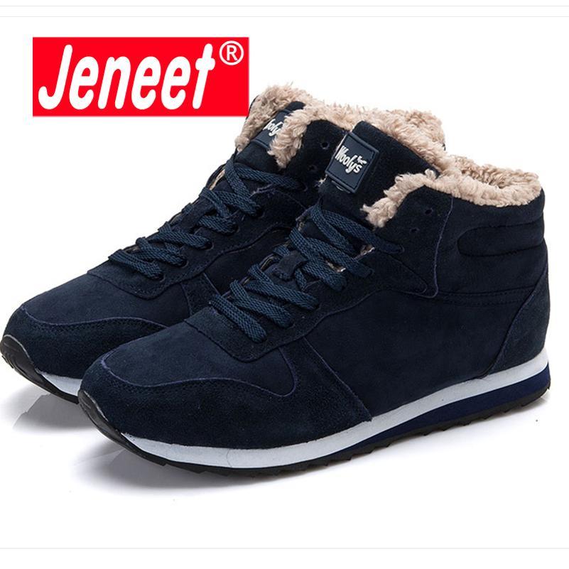 22f1655973 Compre Sapatos Casuais Homens Inverno Quente Homens De Pele Reboques ...