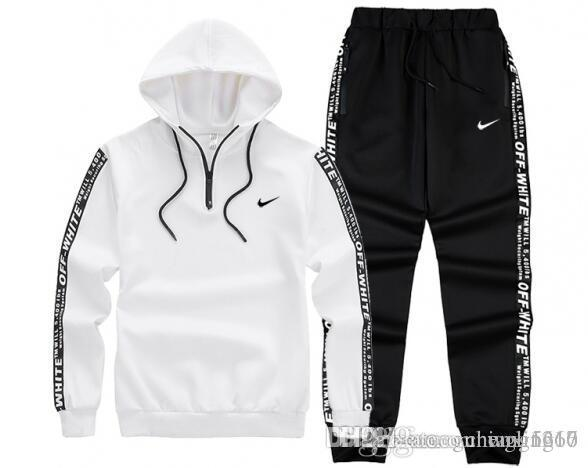 71aa23ce69ad 2019 NIKE Tracksuit Best Version Spring Autumn Mens Designer Tracksuits  Print Zipper Suit Tops+Pants Mens Casual Sweatshirt Sport Suit From  Wgling16