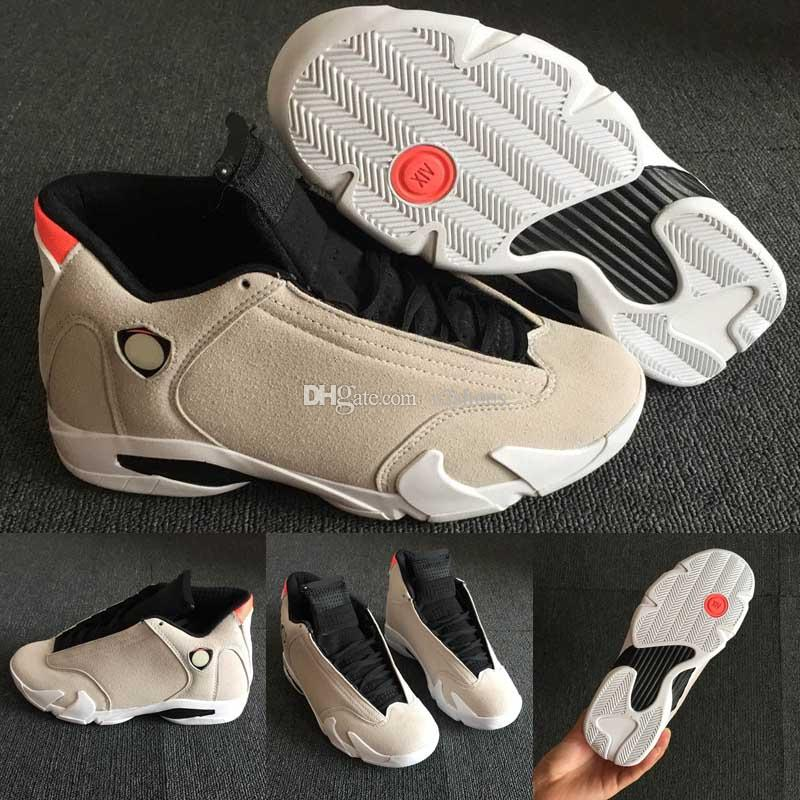 6318c8771d0aa2 2019 Men Designer 14 14s The Last Shot Basketball Shoes Desert Sand DMP  Black Toe Red Thunder Mens Sports Trainers Sneakers Size 40 47 Basketball  Shoe Men ...