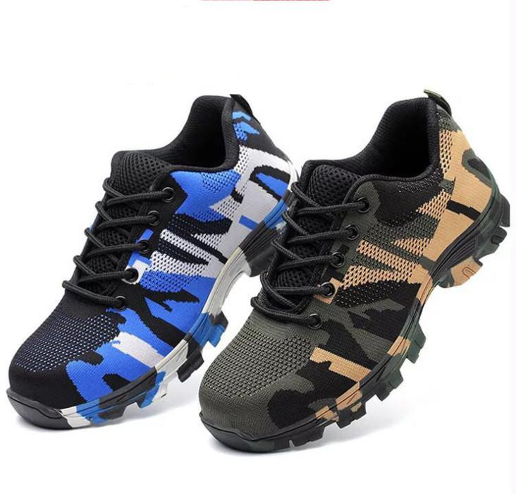 712ee830fee 35-48 Men's Steel Toe Cap Work Safety Shoes Men Outdoor Anti-slip Steel  Puncture Proof Construction Safety Boots Shoes
