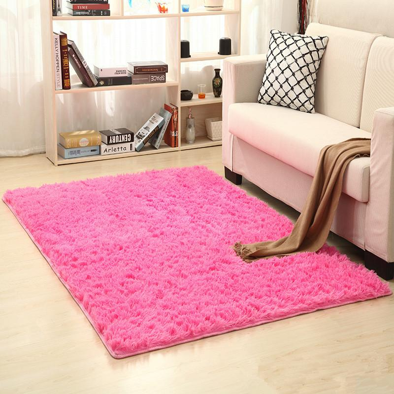 80 X 120cm Thickened Washed Silk Hair Non Slip Carpet Living Room