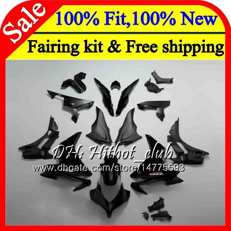 Injection For HONDA CBR500 RR CBR500R 11 12 13 14 15 Gloss black 74HT5 CBR 500R 500RR CBR500RR 2011 2012 2013 2014 2015 Fairing Bodywork