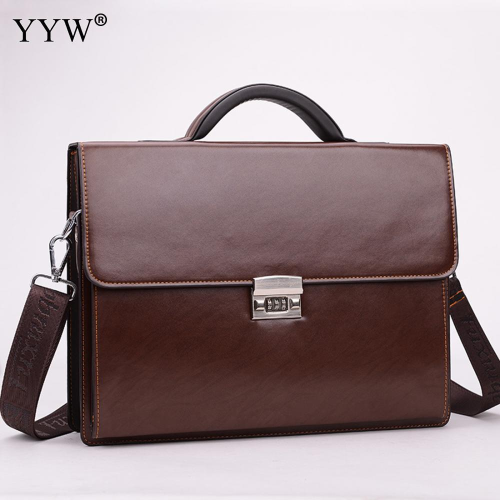 659abf417ab Business Male Bag Men S Executive Briefcase Black Portfolio Tote Bags For  Men Synthetic Pu Leather Handbag A Case For Documents