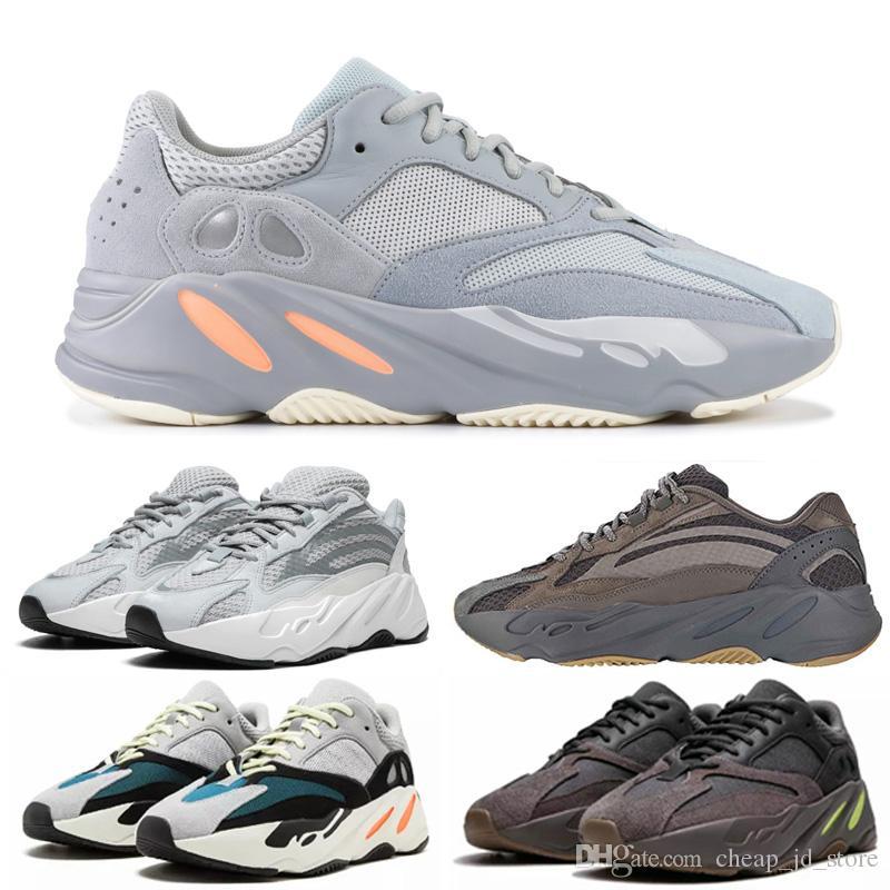 Venta caliente 700 V2 Static Solid Malva para hombre Kanye West Runner Zapato 2019 Mujeres venta caliente zapatillas de deporte de EE.UU.