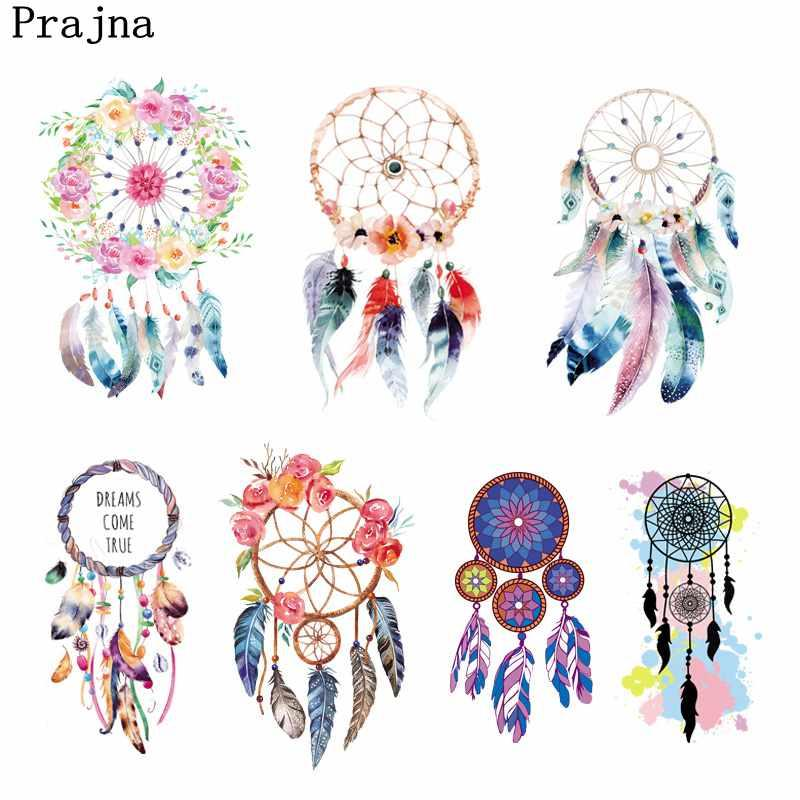 Prajna Dreamcatcher Ironing Stickers Unicorn Pyrograph Iron-On Transfers  PVC Patch Heat Transfer Vinyl For Clothes Wholesale