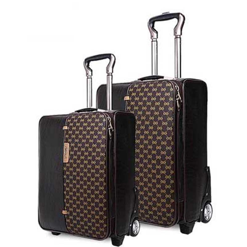 60e5b9f9a715 BeaSumore High-grade Retro Rolling Luggage Spinner Trolley 20 Inch ...