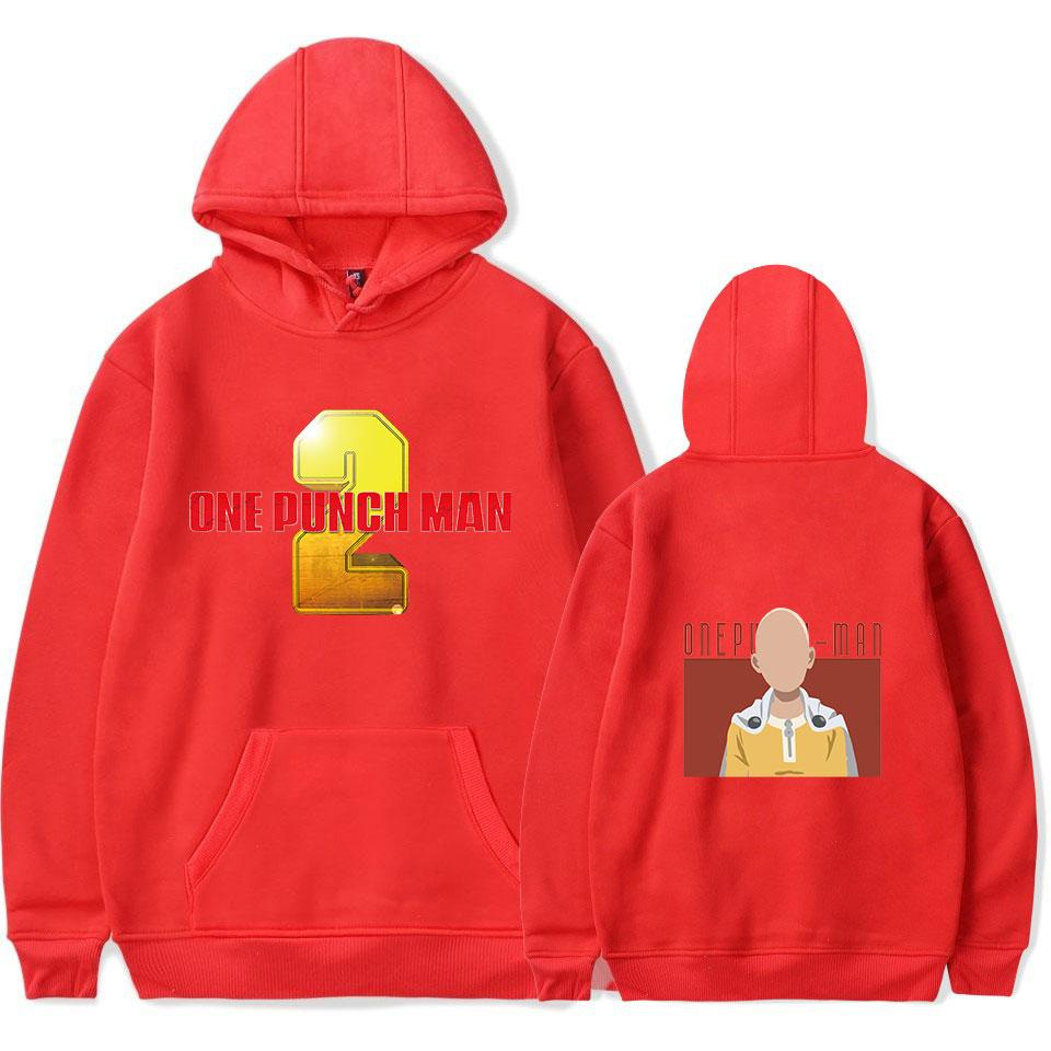 One Punch Man Season 2 hoodies Anime Harajuku Red Hip Hop Sweatshirts Men/Women Hoodie Keep Warm Couple Clothes 4XL