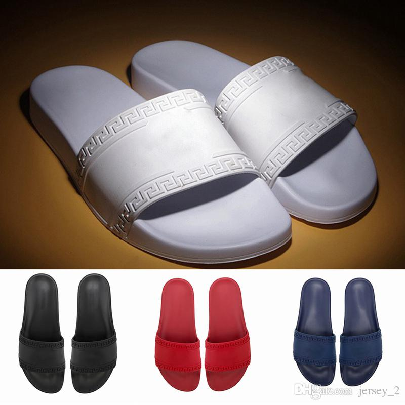1c1238192062 2019 New Luxury Slippers Best Quality Fashion White Black Red Striped  Sandals Causal Non Slip Summer Mens Women Causal Slipper High Heel Shoes  Designer ...