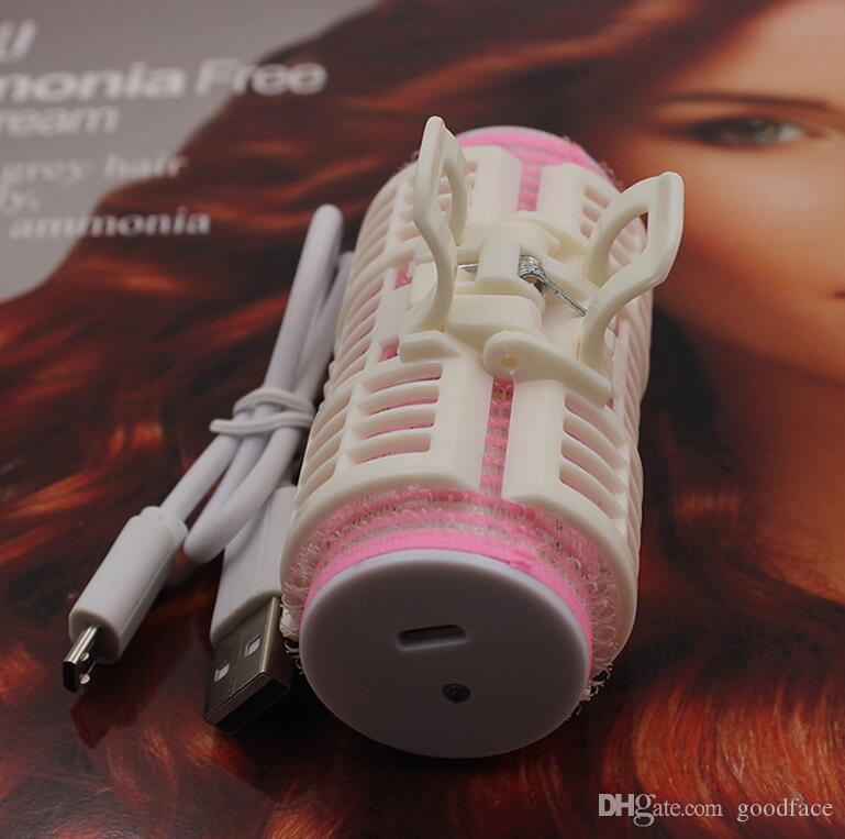 hot new Mini Hair Roller USB Charging Curler Korean Portable Hair Curl Roller 5V 1.8A Loose Curly Tail DIY Hair Style with Retail Package