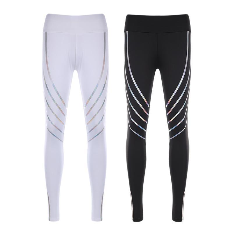 9ab57bfb45349 2019 Running New Gym Leggings Pant Reflective Nightlight Tights Women  Fitness Yoga Pants C190420 From Shen07, $12.45 | DHgate.Com
