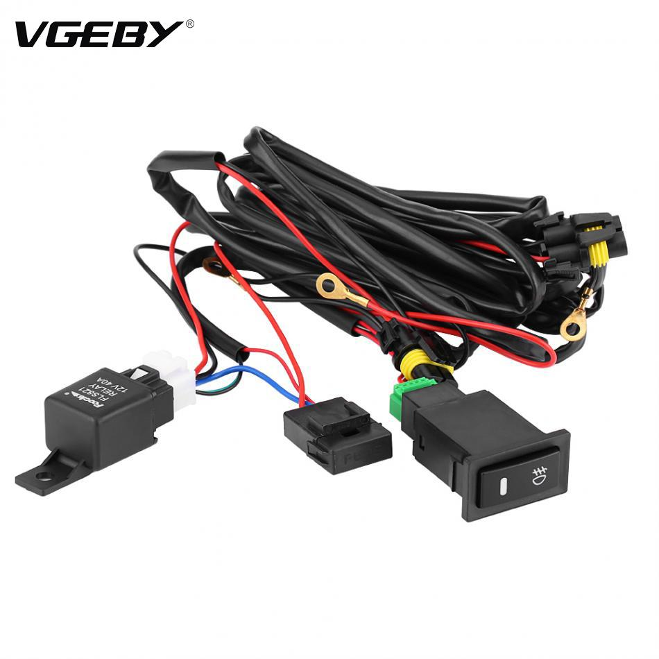 new wiring harness kit fuse relay switch 12v universal car led fog light on off switch car styling Generator Wiring Harness