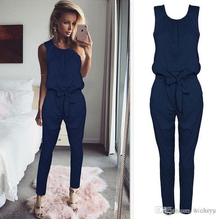 2017 New Arrival Cross-border Jumpsuit Pants Bodysuit Women Macacao Feminino Rompers Body Femme Catsuit Woman Overalls