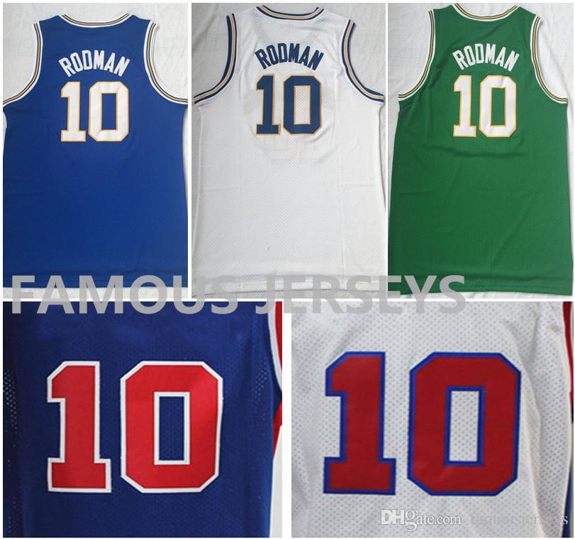 separation shoes 38325 25987 All Stitched Basketball Jerseys South Oak Cliff high school #10 Dennis  Rodman Savages Detroit legend #91 player game uniform