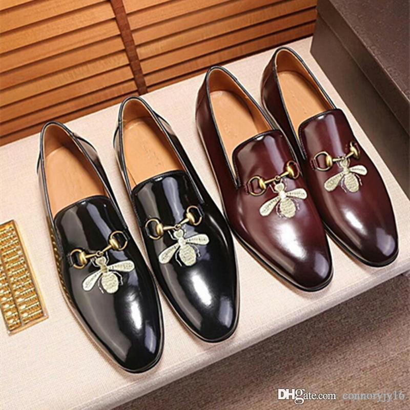 cd79752445 2019 Mens Tassel Loafer Black Brown Patchwork Cow Leather And Horsehair  Slip On Dress Shoes Pointed Toe Men S Casual Shoes Munro Shoes Vegan Shoes  From ...