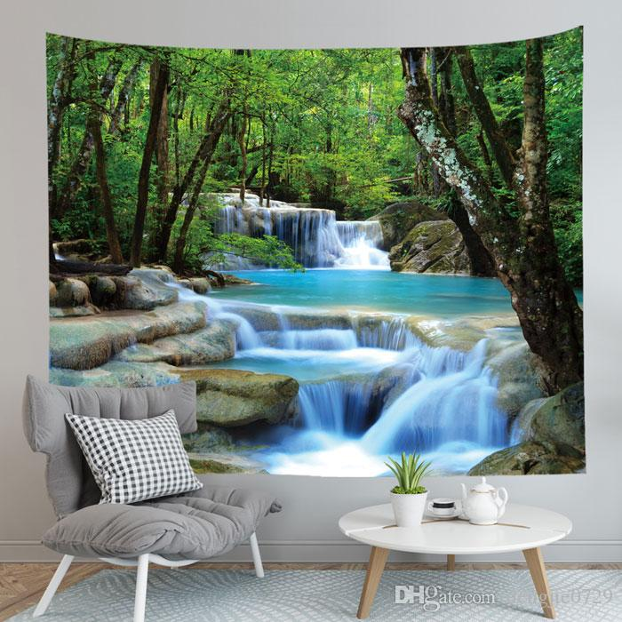 Forest Tapestry Wall Hanging Decor Mat Carpet Home Decor Bedspread Throw