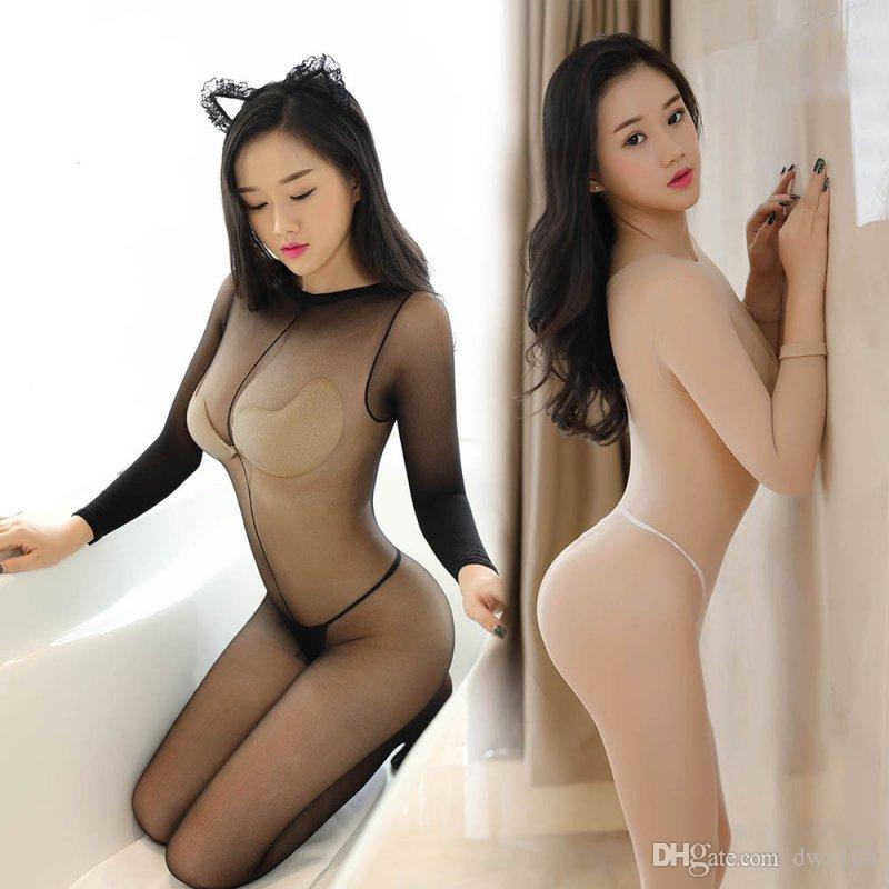 New Plus Size Women Sex Costumes Ladies Hot Sexy Lingerie Transparent Erotic Underwear Babydolls Sleepwear Body Stocking