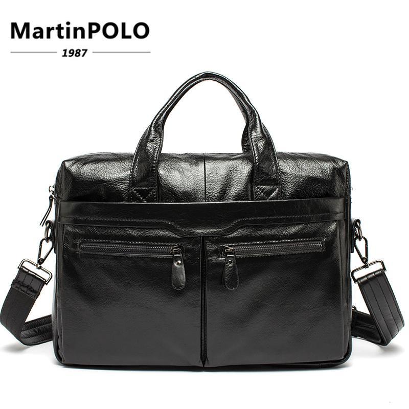 d43d44e19a2a Briefcase Vintage Men Business Handbag Men s Shoulder Bags Genuine ...